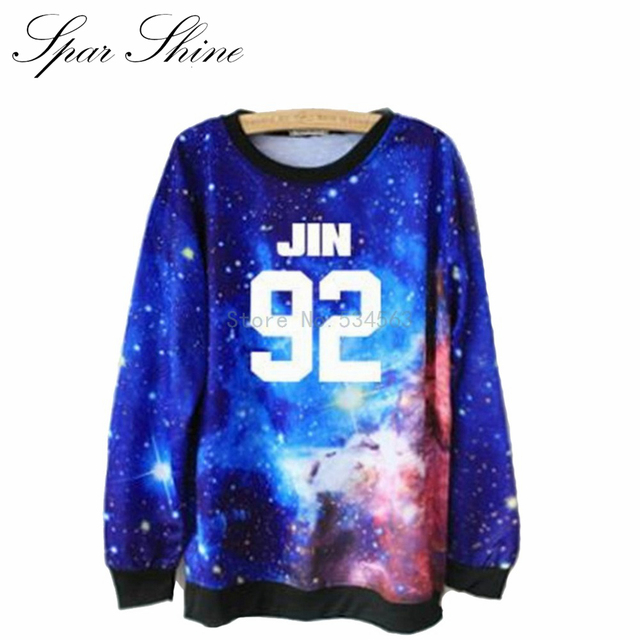 2016 Bts Bangtan Boys Galaxy Hip Hop Suga Sweatshirt Men Tracksuits Suits Hoodies and Pullover