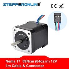 Nema 17 шаговый двигатель 48 мм Nema17 двигатель 42 BYGH 2A 4-lead (17HS4801) двигатель 1 м кабель для 3D-принтера ЧПУ XYZ мотор