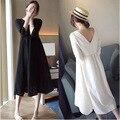 Материнство Весной Новая Мода Показать Тонкие Женщины Dress Корейский Кормящих Dress Беременных Женщин Длинные Большой Размер Одежды