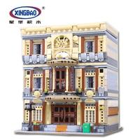 XingBao 01005 творческая MOC город улица дом серии морской музей набор строительных блоков Кирпичи игрушки модель DIY дизайнер дети