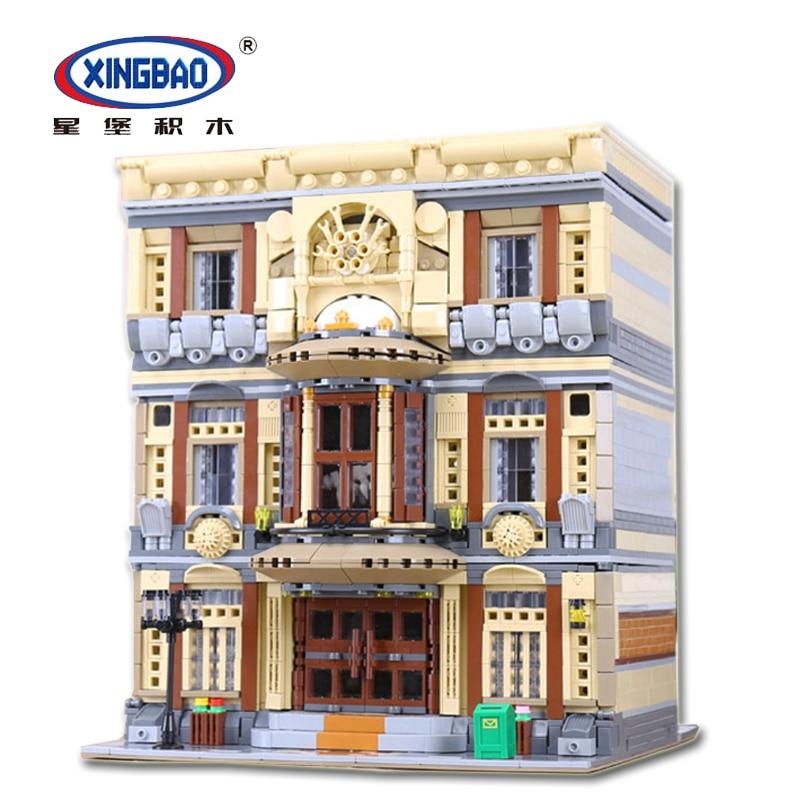 XingBao 01005 Creative MOC City Street House Series the Maritime Museum Set Building Blocks Bricks Toys Model DIY Designer Kids
