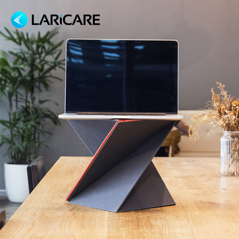 Laptop Stand Levit8 Ergonomic Laptop Lapdesk For Laptop Pc Notebook Computer Foladed Adjustable Laptop Standing Desk