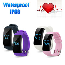 DFit D21 Heart Rate Monitor Smartband Waterproof Swim Smart Band Bracelet Health Fitness Tracker for Android and iOS