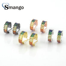 5Pairs, Women Fashion Jewelry,The Rainbow Series,The Smaller Circle Shape Earrings.4 Colors,Can Wholesale