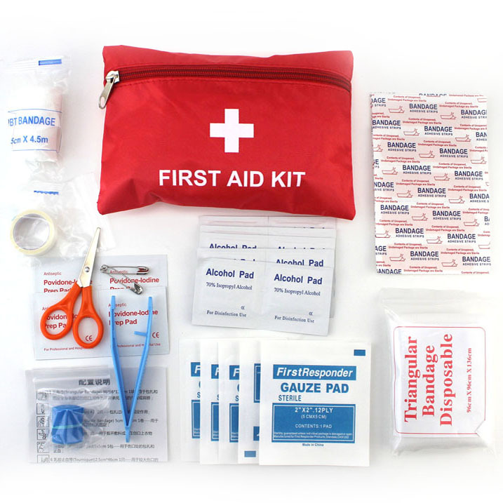 12 Kinds/pack Emergency Kits First Aid Kit Survival Camping Travel Medical Emergency Treatment Pack Set Nylon Pouch Bag B