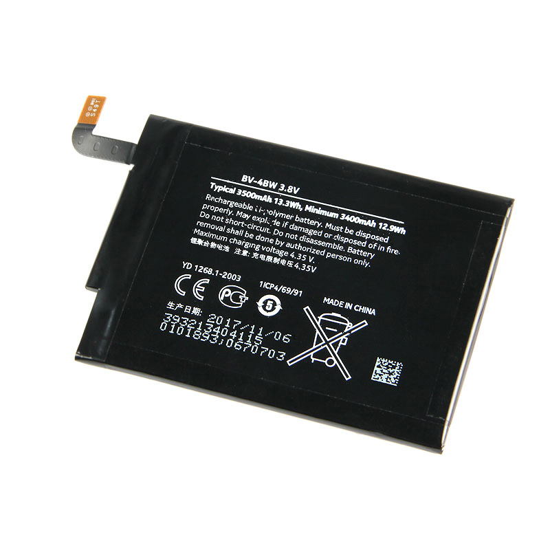 D'origine BV-4BW téléphone batterie pour nokia Lumia 1520 MARS Phablet RM-937 Bea Lumia1520 BV4BW 3500 mAh