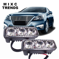 MIXC TRENDS Waterproof Universal DRL Car Driving Fog Light Lamp Super Bright Modified High Power LED