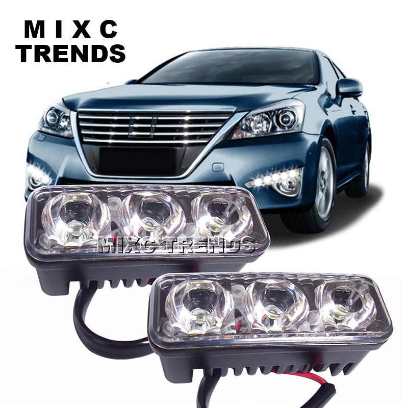 MIXC TRENDS Waterproof Universal DRL Car Driving Fog light Lamp super bright modified high-power LED Daytime Running Lights so k 4x p15d px15d t19 p15d 25 1 h6m 50w high power cree super bright motorcycle moto led headlight driving lamp drl white