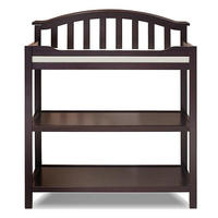 Pine Infant Changing Table with Cushion of Safety Strap, Wood Diaper Station, Baby Diaper Changing Table Approve SGS Test