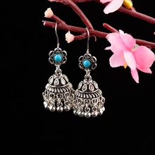 TopHanqi Antique Ethnic India Jhumka Jhumki Earrings For Wom