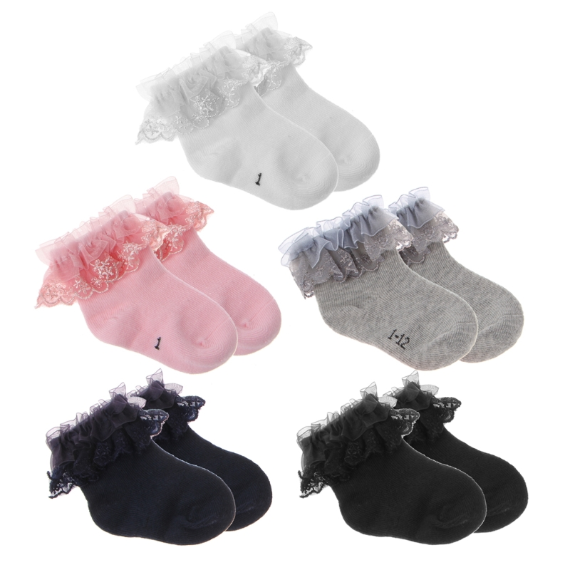 Baby Newborn Cotton Socks Lace Princess Combed Socks for Girls Infant Baby Socks