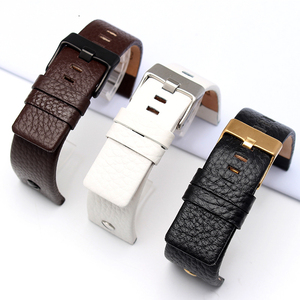 Image 2 - New Fashion Leather Watchband with rivet Watch Strap Belt Bracelet for diesel DZ7313 DZ7333 7322 7257 4318 7348 7334 Replacement