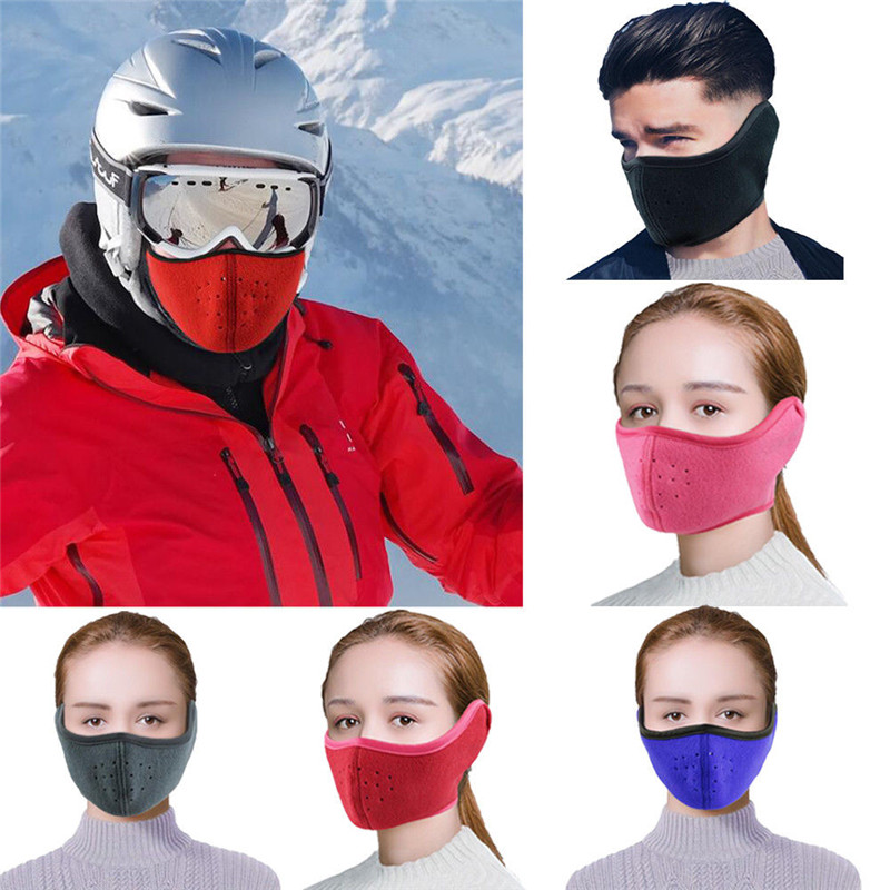 Adjustable Dust-proof Winter Breathable Mesh Bicycle Mask Dust Smog Windproof Protective Mesh Bike MTB Cycling Ear Mask W3