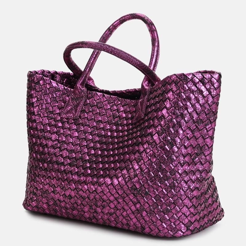 ФОТО Snakeskin pattern hand-woven handbags Louis 2017 spring and summer new European tide shoulder portable female bag basket b home