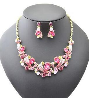 Necklace Earrings Bride-Jewelry-Set Gift Bohemia-Style American Luxury Suit Acrylic Girls