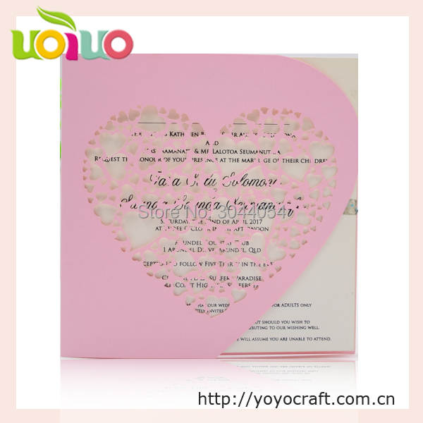 Us 49 5 Free Custom Service Heart Shaped Design Wedding Invitation Card English Wedding Invitation Card Wording Printable In Cards Invitations