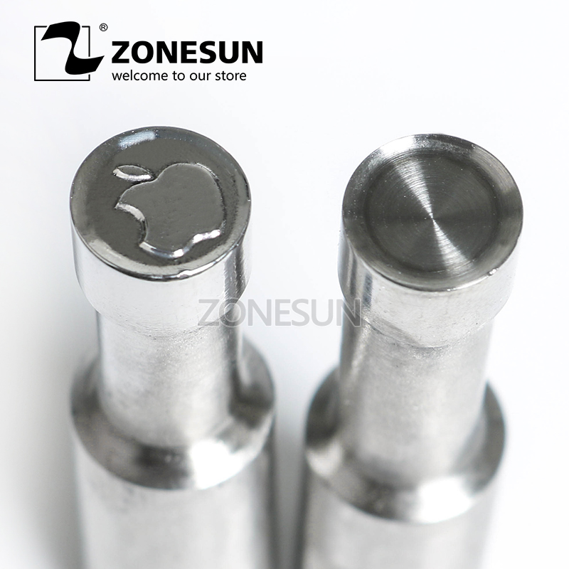 ZONESUN Apple Tablet Press 3D Punch Mold Candy Milk Sugar Punching Die Custom Logo Stamp For Punch Die TDP 0/1.5/3 Machine