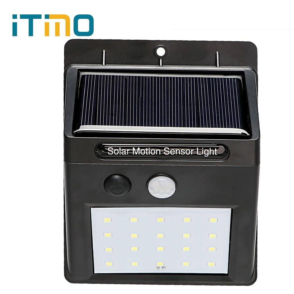 ITimo 20 LED Solar Lamp For Street Yard Path Home Garden Energy Saving Outdoor Lighting Wall Light Light and PIR Motion Sensor