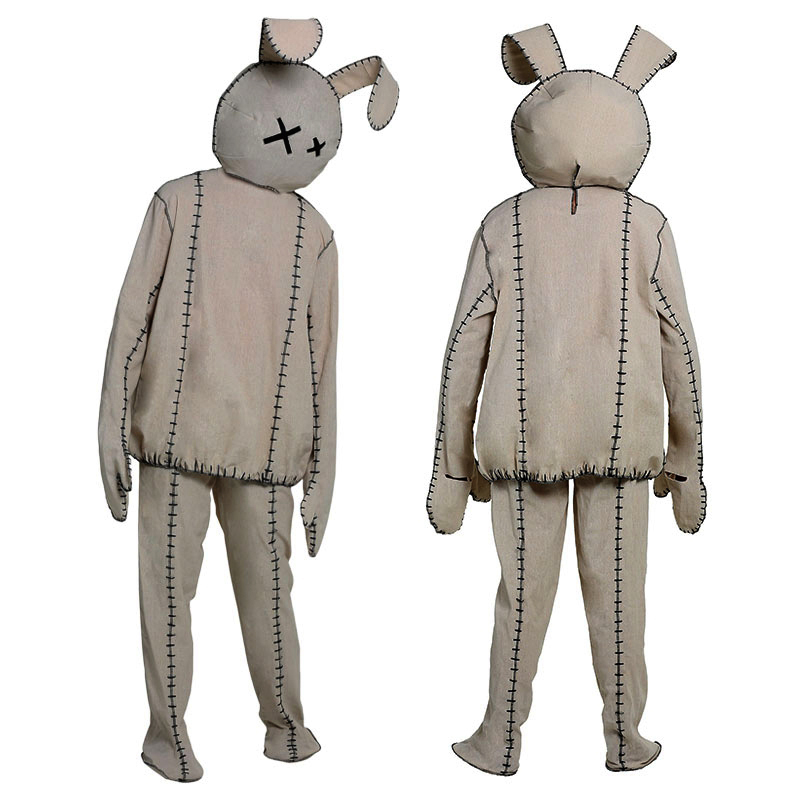 Bonnie Rabbit Halloween Costume Cosplay Cute Doll Toy Suit Set Linen Costumes Performance Party Funny Clothing Mask Tops Pants