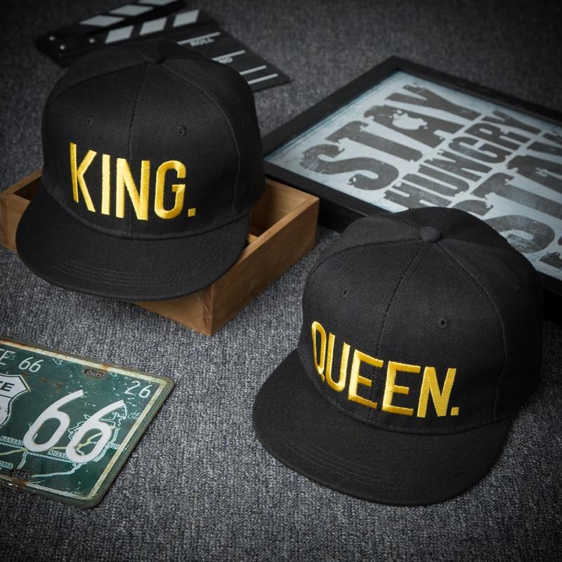 King Queen Baseball Cap Spring And Summer Outdoor Embroidery Couple Hip Hop Flat Cap Sport Sunscreen Lover Hat