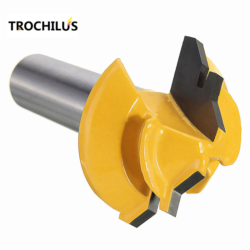 45 Degree Milling Cutter woodworking router bits Wood Cutter 1/2*1-3/8 Shank for Woodwork Cutter drilling tool 1 2 5 8 round nose bit for wood slotting milling cutters woodworking router bits