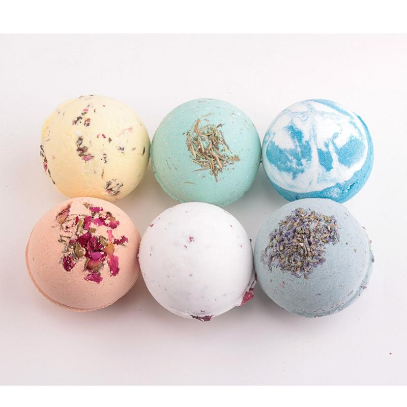 Natural Deep Sea Bath Salt Bath Ball Bomb Round Body Essential Oil Bath Ball Natural Bubble Bath Bombs Ball 5U1206