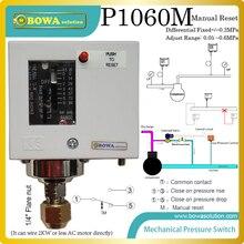 0 ~ 0.6MPa ручной сброс механический переключатель давления instaledl во всасывающей линии теплового насоса или охладитель воды, чтобы избежать understress