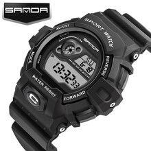 SANDA Fashion Sport Watches Men Digital Watches Multifunction Designed Luminous Noctilucent Waterproof Luxury Men Watch Alarm все цены