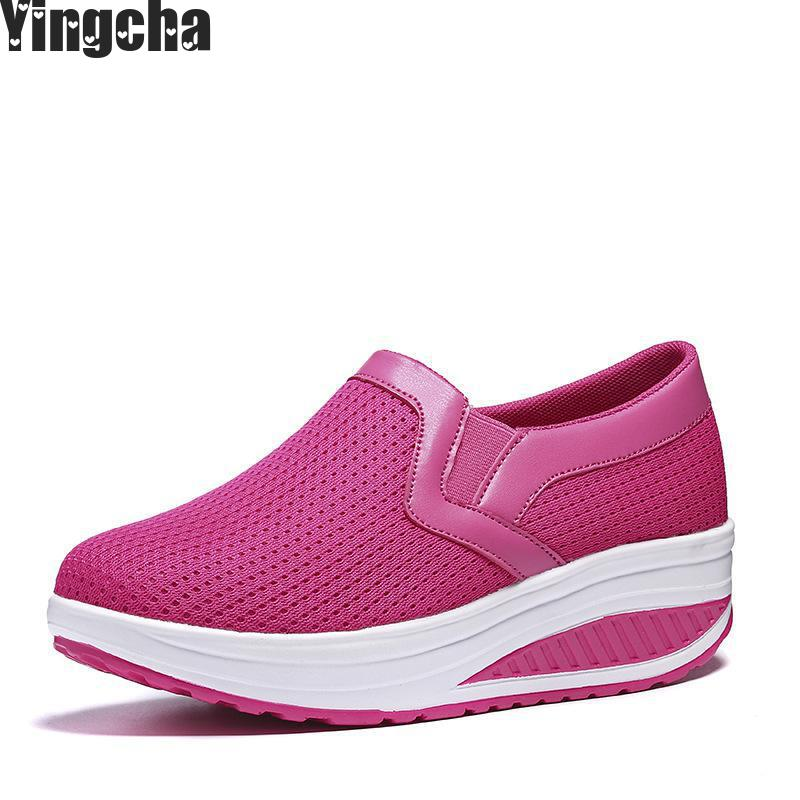 2018 Breathable Women Woven Shoes Loafers Handmade Elastic Slip On Pu Platform Wedges Shoes Woman minika women shoes summer flats breathable lace loafers platform wedges lose weight creepers platform slip on shoes woman cd41