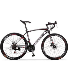 Road racing / 21/27-speed road bike cross-country students / Tri knife curved handlebars whole wheel disc brakes  /tb80803