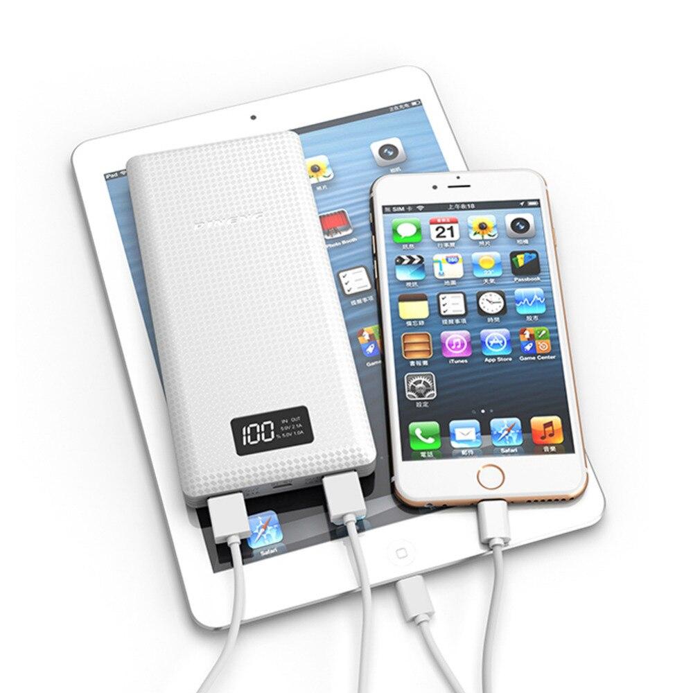 imágenes para Batería externa Con LED de Carga USB Dual 20000 mAh Banco de la Energía Móvil Portable Del Cargador de Batería con Una Función de Li-Polímero batería