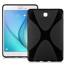 Nueva x línea suave del claro tpu case gel de la contraportada para samsung galaxy tab sii s2 s 2 ii 8.0 tablet case t715c t715 t710 silicio case