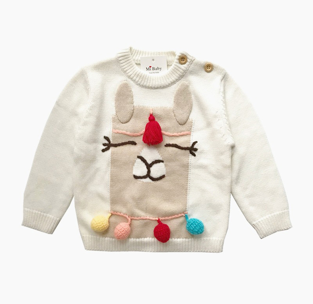 0cdb75e07346 Girls Boys Clothes Bear Children s Sweaters New 2019 Baby Girls ...