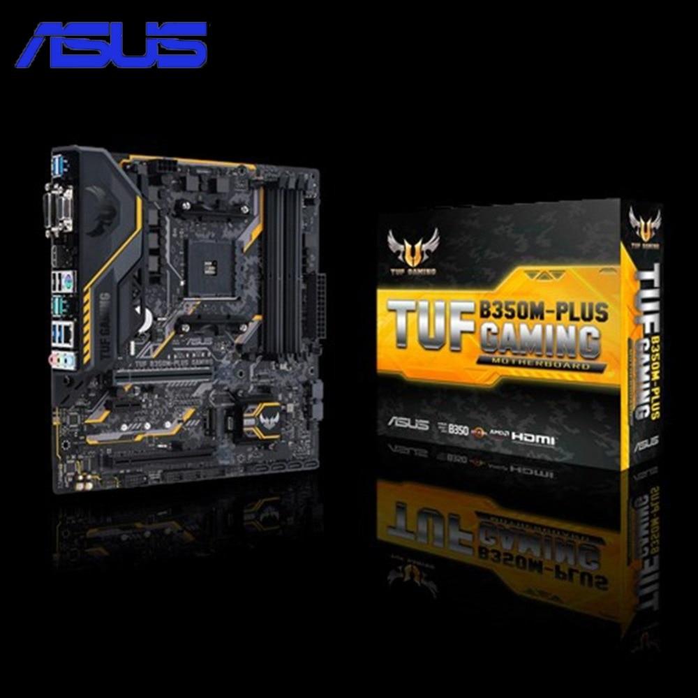 купить Asus TUF B350M-PLUS GAMING Motherboard Original Desktop Motherboard for AMD Socket AM4 DDR4 64G SATA3 USB3.1 Micro-ATX Promotion по цене 10969.36 рублей