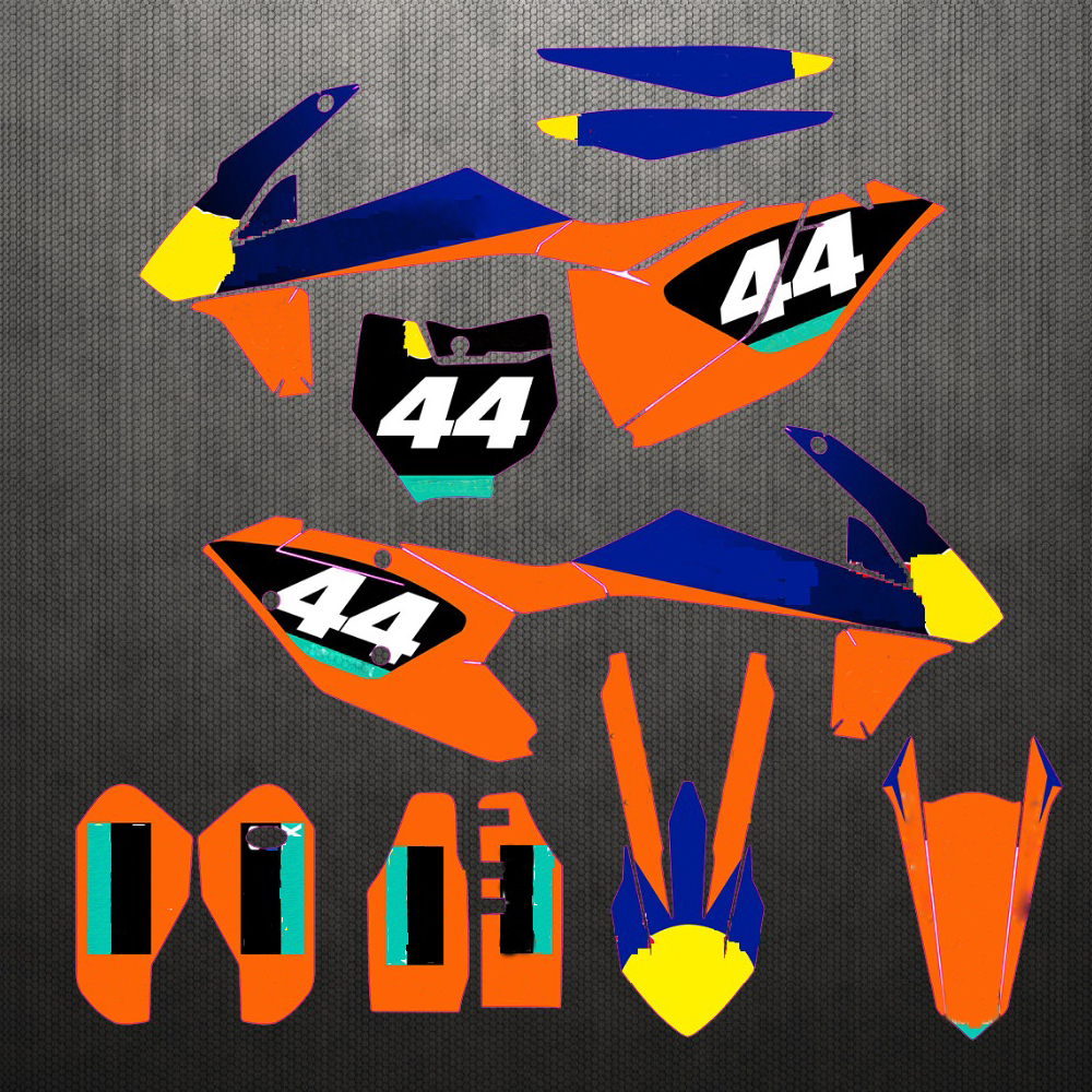 2016 2018 For KTM 250 350 450 SX SXF XC XCF Graphics Backgrounds Full Set Stickers