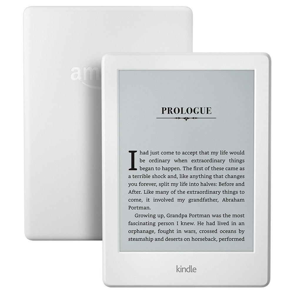 Kindle Kindle 8 Branco versão 2016 Display Touchscreen Exclusivo Software 6 4 GB eBook e-tela de tinta Wi-Fi- polegada Leitores de e-Book