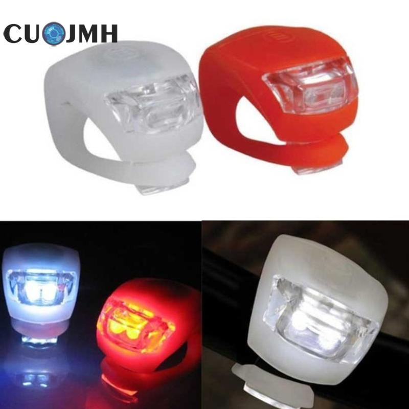 Mini Led Bike Signals Light Head Front Rear Wheel Cycling Warning Taillight Taillamps Waterproof Silicone 6 Colors