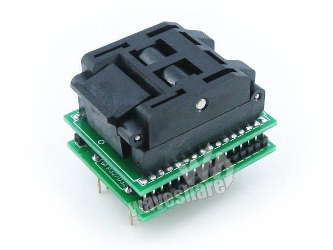 купить Waveshare QFP32 TO DIP32 Yamaichi IC Programmer Adapter Test Burn-in Socket 0.8mm Pitch for QFP32/TQFP32/FQFP32/PQFP32 Package по цене 2982.07 рублей