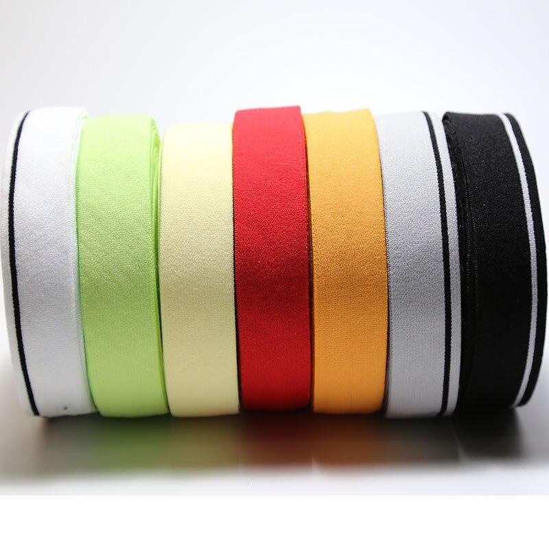 1 inç elastik bant peluş taraflı naylon elastik dokuma DIY iç çamaşırı sutyen aksesuarları 25mm genişlik 10 metre/grup