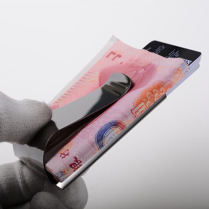 QOONG 2017 Custom Lettering 3 Färg Slim Pocket Money Kontant Klämma - Plånböcker - Foto 6