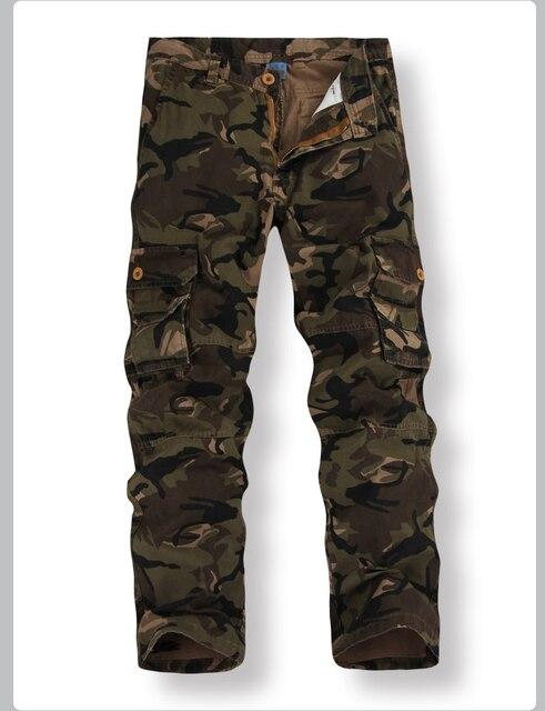 6534cad3f € 25.84 31% de DESCUENTO|Caliente ejército Multi Bolsillo casuales de la  moda de los hombres pantalones de camuflaje de hombre K8 combate comando ...