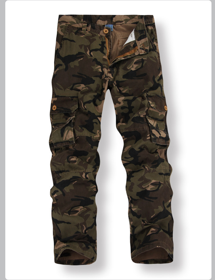 Hot Army Multi-Pocket Men's Fashion Casual Camouflage Pants Overalls Male K8 Combat Commando Cargo Ourdoor Full-Length Trousers inc women s multi pocket glow pants 16w sky grey