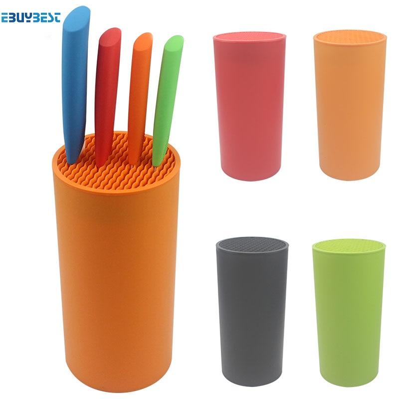 Takım tutucu çok fonksiyonlu plastik takım tutucu bıçak bloğu bıçak standı sooktops tüp raf chromophous