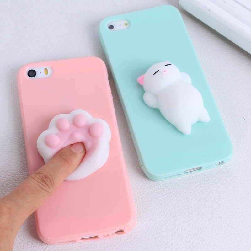 Soft Silicone Squishy Case Cover For iphone 7 7 plus 3D Cute Animal Squeeze Anti Stress Toys For ...