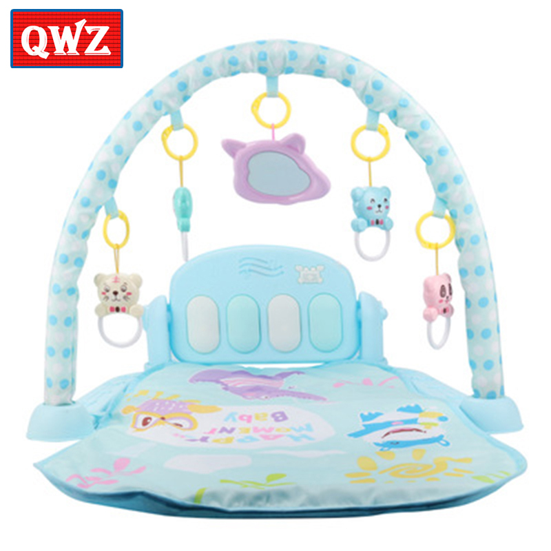 Baby Activity Gym pedal piano newborn fitness equipment animal Baby play mat rattle toy 0-6 month baby sleeping crawling mat