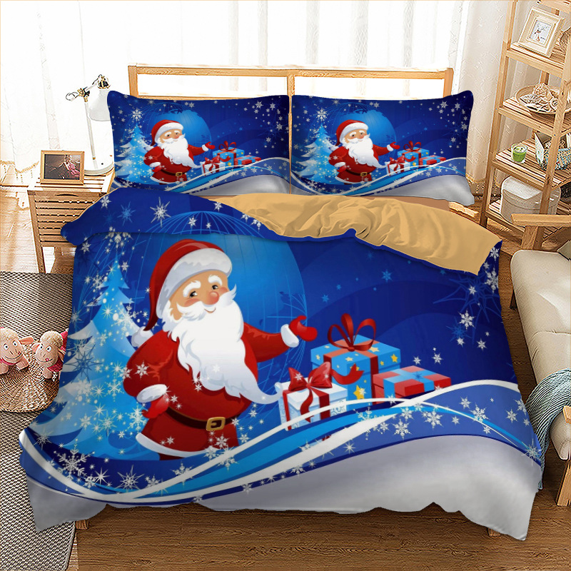 Xmas Bedding Set Single Double Queen King Twin Full Queen King Size Merry Christmas Bed Linen Set Gift From Santa Claus 3pcsXmas Bedding Set Single Double Queen King Twin Full Queen King Size Merry Christmas Bed Linen Set Gift From Santa Claus 3pcs