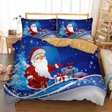 Xmas Bedding Set Single Double Queen King Twin Full Queen King Size Merry Christmas Bed Linen Set Gift From Santa Claus 3pcs(China)