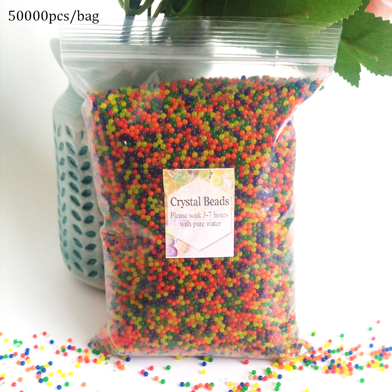 50000pcs/bag Orbeez Water hydrogel beads Bullets Guns Paintball Bullets balls Gun Toy crystal soil decorative Home decoration chic multilayered geometric bullets choker