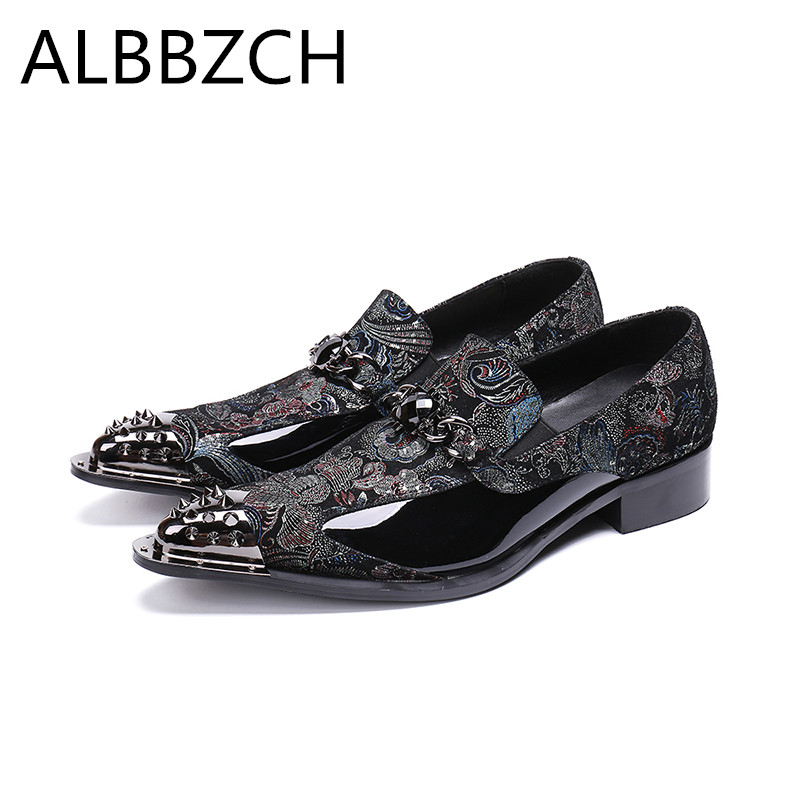 Nen luxury metal designer mens printing leather casual shoes men pointed toe slip on business party shoes wedding dress shoesNen luxury metal designer mens printing leather casual shoes men pointed toe slip on business party shoes wedding dress shoes