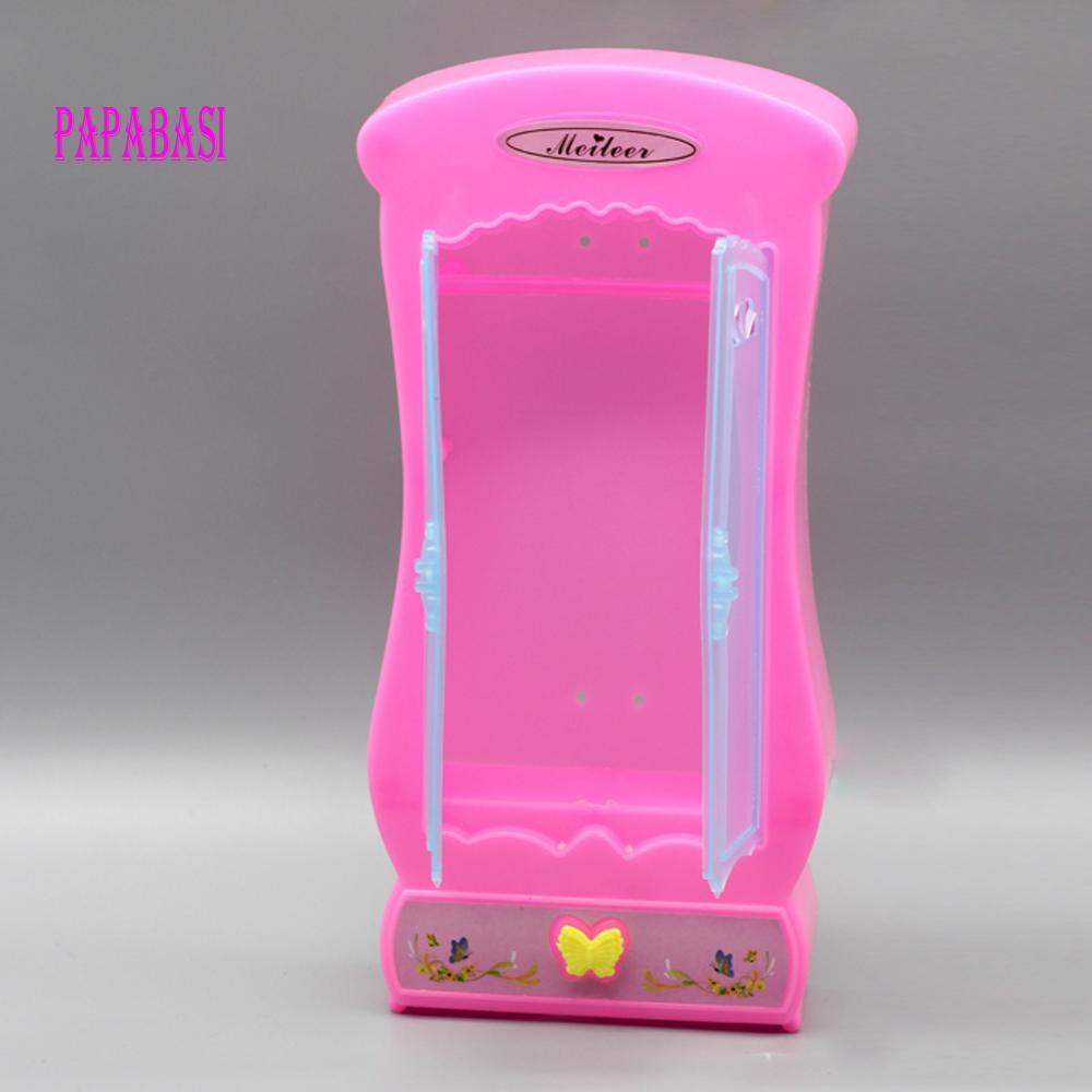 accesorios para muecas de moda muebles miniatura gabinete rosa barbie princesa dormitorio muebles armario armario para